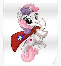 Sweetie Belle Caped Crusader Poster