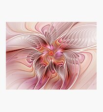 Abstract Butterfly, Colorful Fantasy Fractal Art Photographic Print