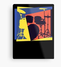Drum Set Pop Art Metal Print