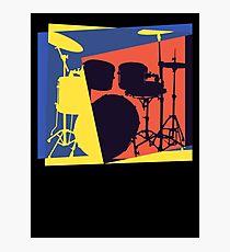 Drum Set Pop Art Photographic Print