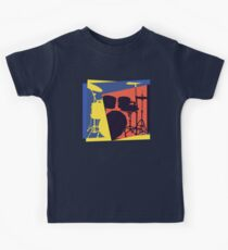 Drum Set Pop Art Kids Tee