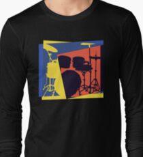 Drum Set Pop Art Long Sleeve T-Shirt
