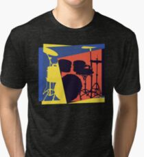 Drum Set Pop Art Tri-blend T-Shirt