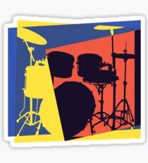 Drum Set Pop Art Sticker