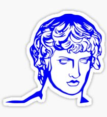 blue antique sculpture Sticker