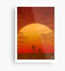 The Clone Wars - Minimalist Poster Metal Print