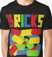 Colored Bricks [Large] by Customize My Minifig Graphic T-Shirt