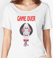 Horror Movie Game Over Caricature Women's Relaxed Fit T-Shirt