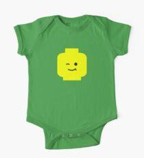 Minifig Winking Head  Short Sleeve Baby One-Piece