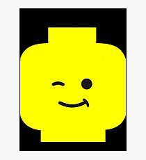 Minifig Winking Head  Photographic Print
