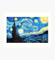 starry night  Kunstdruck