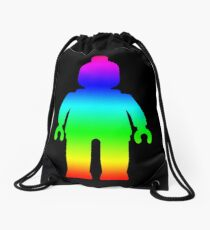 Minifig [Large Rainbow 1]  Drawstring Bag