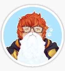 Cat Beards r Back In Trend Sticker