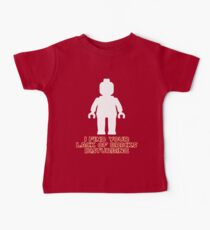 """""""I Find Your Lack of Bricks Disturbing"""" by Customize My Minifig Baby Tee"""