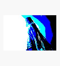 Damian Marley Blue Posterized Photographic Print