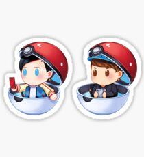 Plushie! Dan and Phil Pokemon Go (Pokeball) Sticker