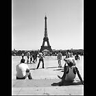 Eiffel Tower. Paris. Guys Playing ® by creative-bubble
