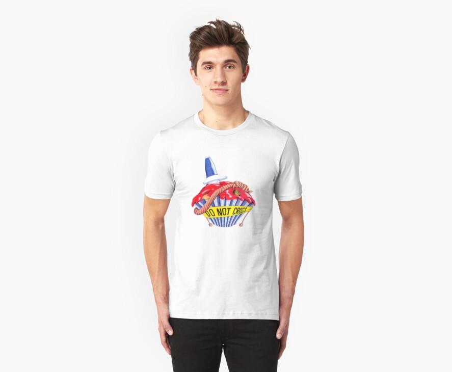 Crime Scene Cupcake T-shirt by Mariana Musa