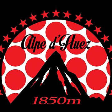 Alpe d'Huez (Red Polka Dot) by sher00