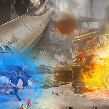 Mario vs. Sonic poster by Rattaspi