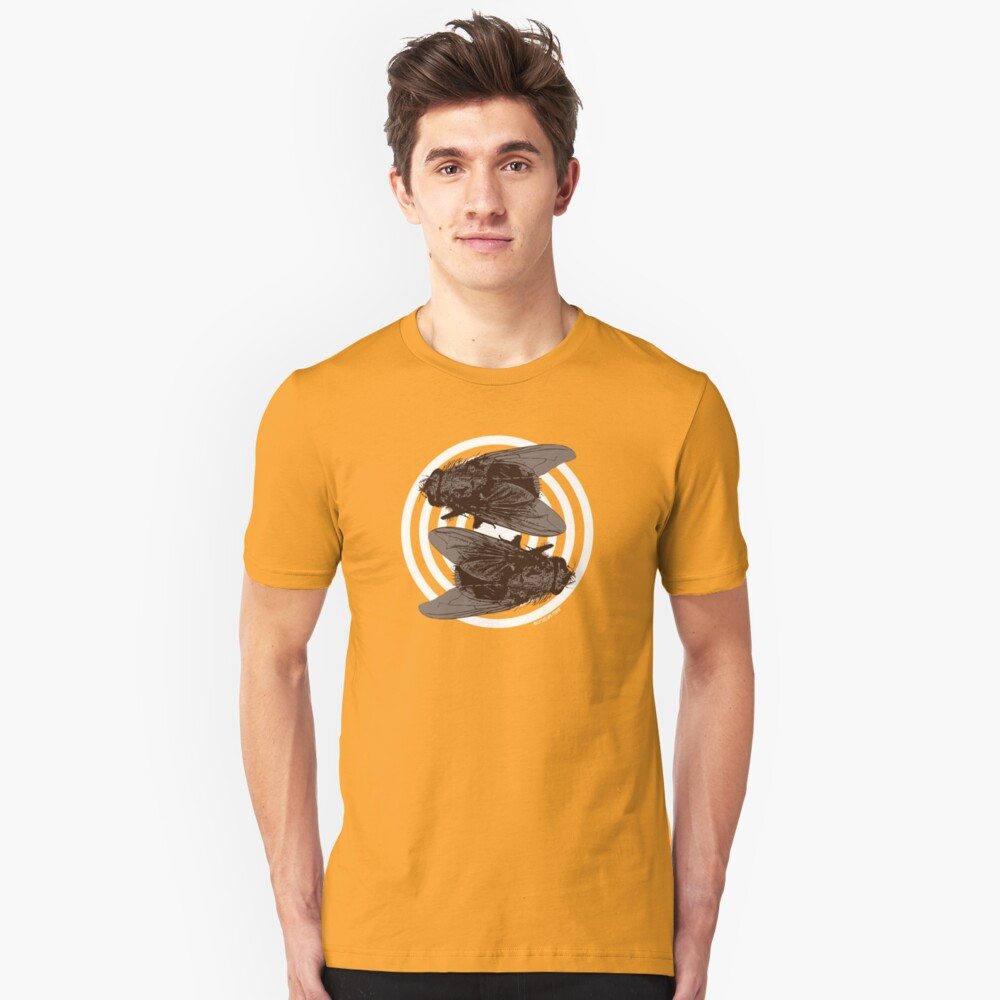 Yin and Yang Flies of Harmony Unisex T-Shirt Front