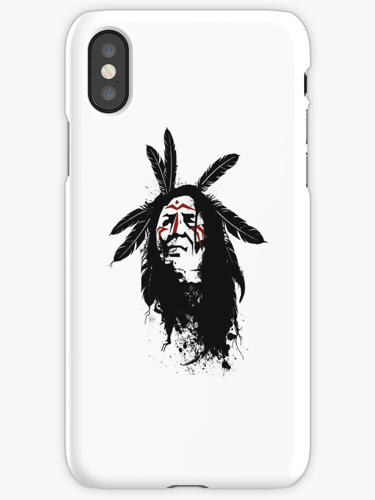 native american warrior by krassrocks