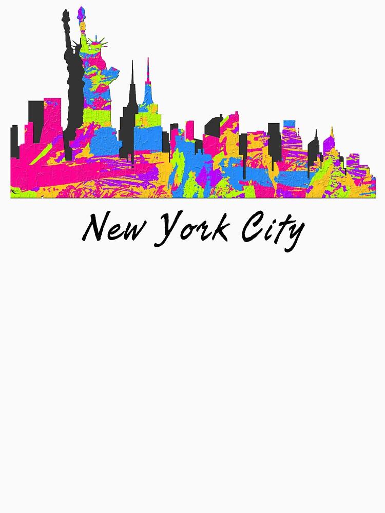 New York City, New York Skyline de FamilyT-Shirts