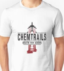 Jet Chemtrails Red & Grey Logo T-Shirt