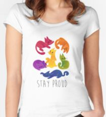LGBT + PRIDE CATS Women's Fitted Scoop T-Shirt