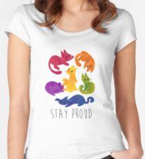 Camiseta entallada de cuello redondo GATOS LGBT PRIDE +