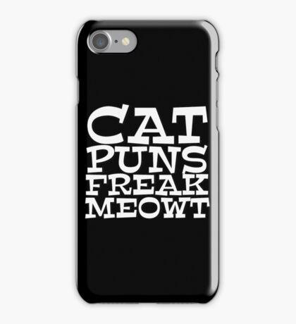 Cat puns freak meowt iPhone Case/Skin