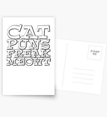 Cat puns freak meowt Postcards