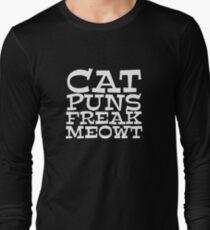 Cat puns freak meowt Long Sleeve T-Shirt