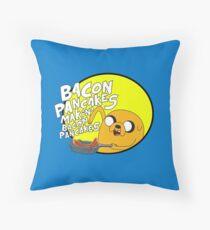 adventure time bacon pancakes Throw Pillow