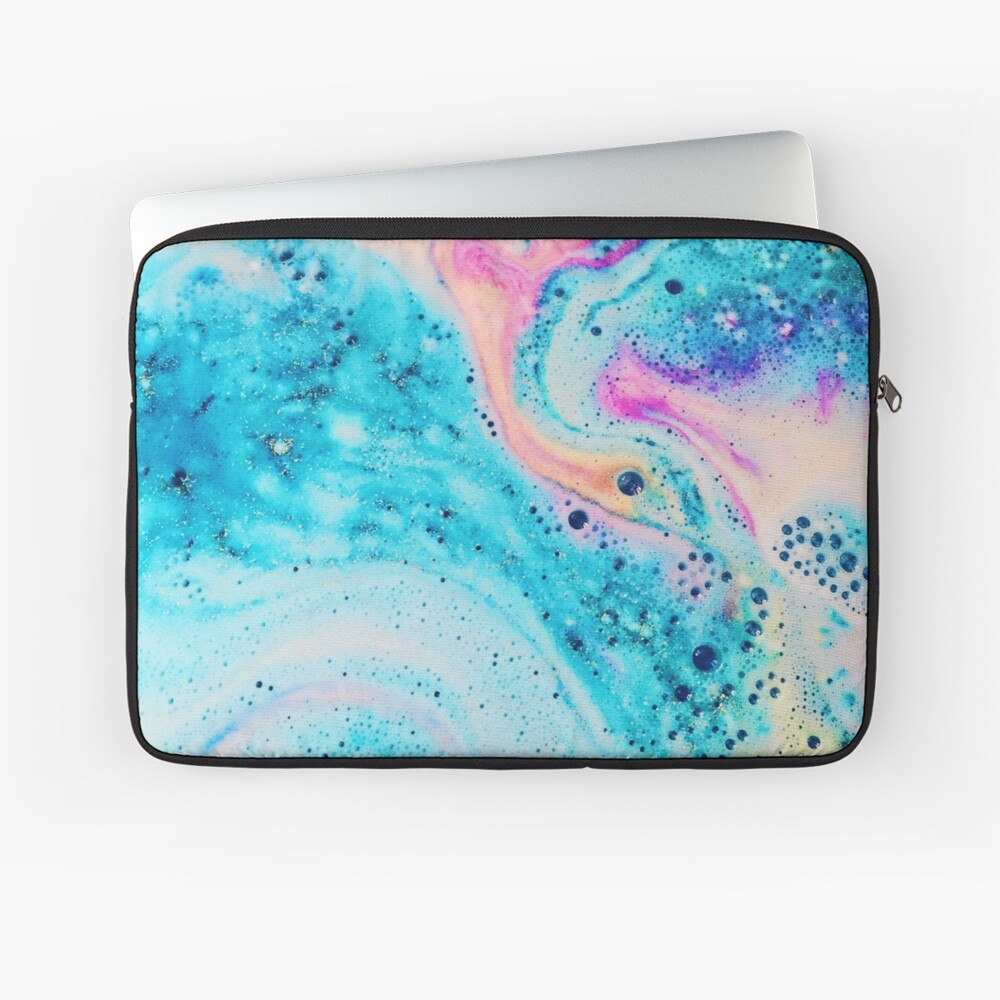 Neon Marble Effect Laptop Sleeve
