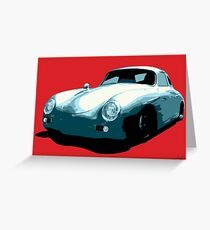 Porsche 356 pop art Greeting Card