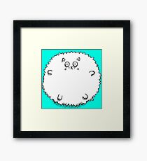 Fluff Ball Cat Framed Print