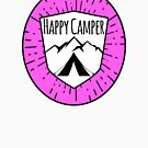HAPPY CAMPER CAMPING TENT MOUNTAINS OUTDOORS LOVE PINK by MyHandmadeSigns