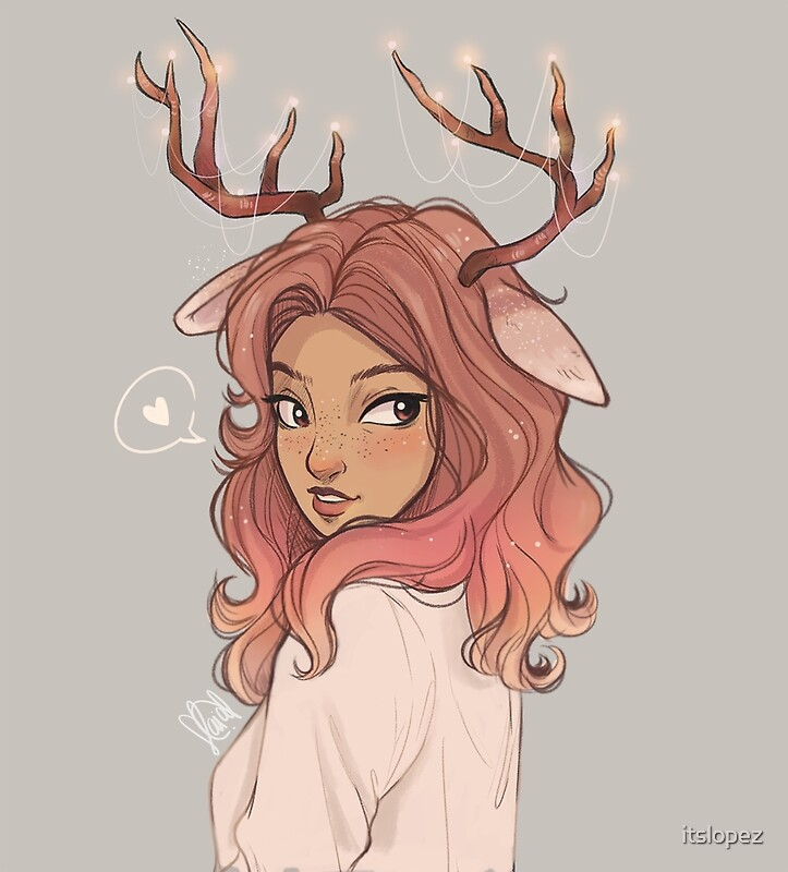 Quot Deer Quot By Itslopez Redbubble
