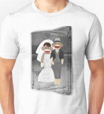 Sock Monkey Wedding Unisex T-Shirt