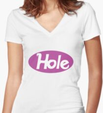 Hole - Courtney Love classic violet Women's Fitted V-Neck T-Shirt
