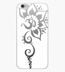 Rising Om - Silver Fade iPhone Case