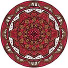 Red and Brown Mandala by WelshPixie