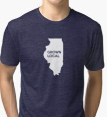 Illinois Grown Local IL Chicago Tri-blend T-Shirt