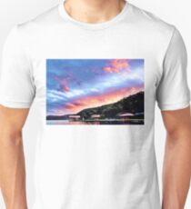Sky Fire Sunset. Photo Art, Prints, Gifts, and Apparel. T-Shirt