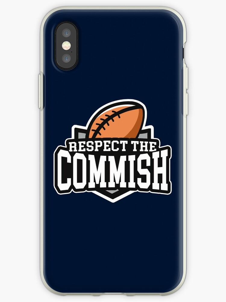 newest 233bd dc465 'Respect the Commish: Fantasy Football' iPhone Case by BootsBoots