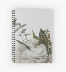 Minimal Floral Bouquet Print Spiral Notebook