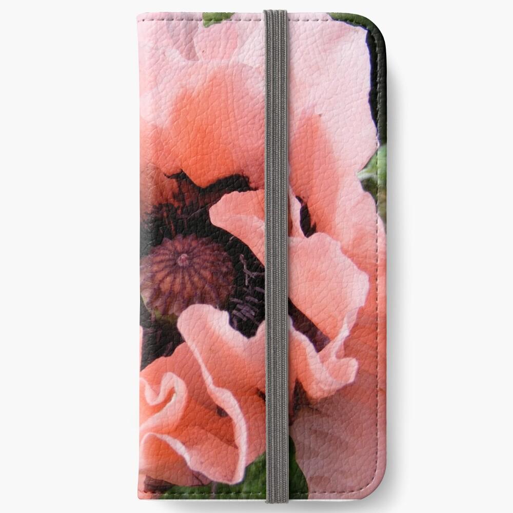 PINK POPPY FLOWER PETALS iPhone Wallet