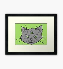 3 Eyed Kitty Flash-LIMITED TIME ONLY Framed Print