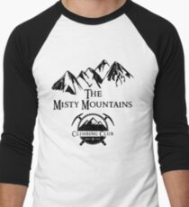 Misty Mountains Climbing Club, LOTR Parody  Men's Baseball ¾ T-Shirt